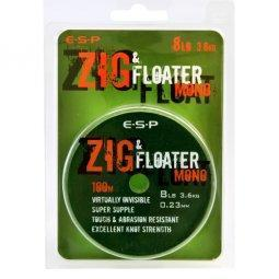 ESP Леска плавающая ZIG & FLOATER Mono - 100m, 0,28mm, 12lb (5,45kg) - Clear